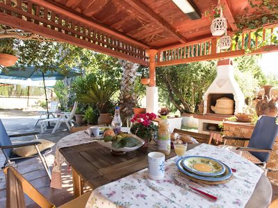 Photo for Economic 2 km from Alghero, terrace and barbecue and WiFi for 4