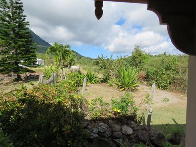 View from front porch of  access road that leads to the main road (about 0.2 mi)