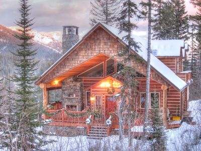 Photo for Panoramic mountain views from this private home on Whitefish Mountain Resort