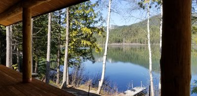 Photo for A Serene Lake Front Cabin Minutes from West Glacier National Park