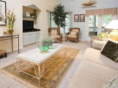 Photo for 1777 St. Andrews Commons | Lagoon Views | Bike to Beach | Complex Pool | Loft | Palmetto Dunes