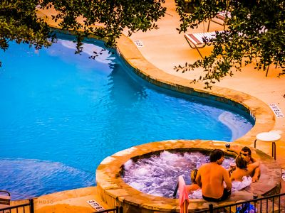 Photo for Cool Comal Cottage - ON THE RIVER! * With a Pool and Hot Tub!!