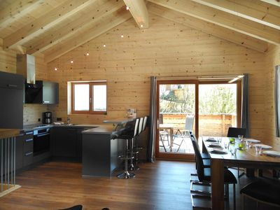 "Photo for Holiday house, 3 bathrooms / WC, 3 bedrooms - ""Chalet 2"" - Walser Berg chalets"