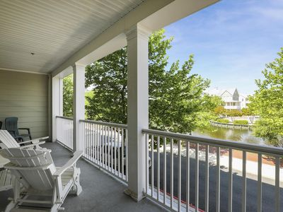 Photo for Great Views of Pond & Fountains - Wi-Fi, Pools, Private Beach & More!
