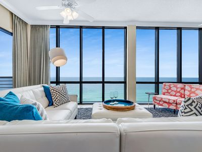 Photo for NEW Upscale Luxury!  Renovated Beachfront PENTHOUSE with Amazing Views.