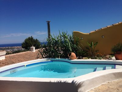 Photo for Villa with sea views, private pool, jacuzzi, Wifi, TV-SAT, a / c, barbecue