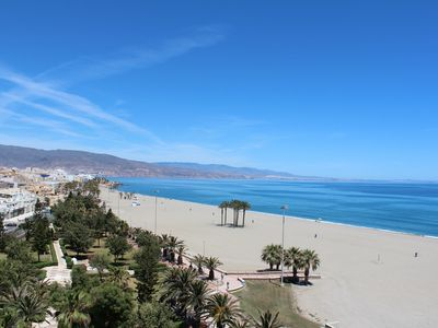 Photo for Penthouse on the beach with stunning views of the sea and the bay of Almeria.