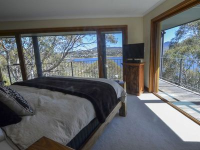 Master bedroom.An island King bed, stunning views and privacy