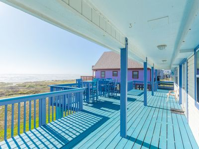 Photo for Beachfront Bliss: unobstructed view, walk right out to beach. FREE activities!