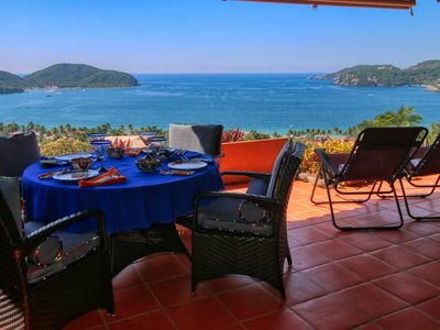 Photo for VIEWS of Beach and Ocean Designer condo Best Infinity Pool La Ropa~Spacious *