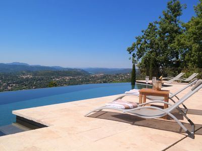 Photo for A stunning villa with luxury  interior & breathtaking views of the Cote d' Azur