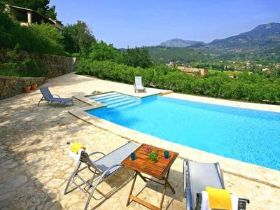 Photo for CAN RUPIT- Villa near Soller with mountain views for up to 6 people or for up to 10 people. Ping Pong.  Private Pool. - Free Wifi