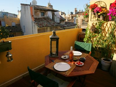 Photo for Luxury Apartment in the historical center of Aix-en-Provence with 2 terraces