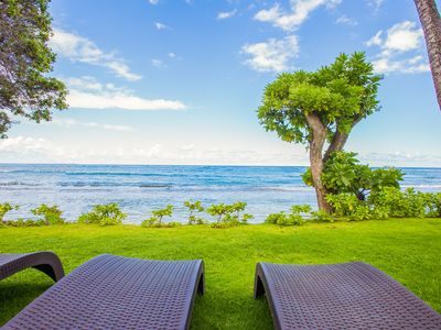 Photo for Kapaa Oceanfront 3 Bedroom, Pool, No Stairs (112-3)