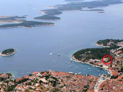 Photo for Studio flat with terrace and sea view Hvar (AS-591-a)