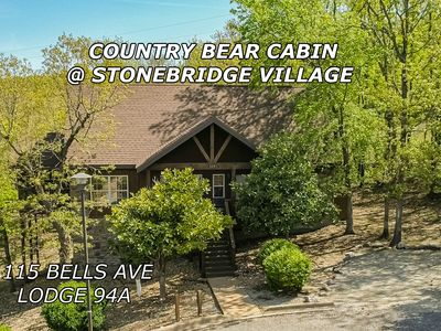Photo for Country Bear Cabin 1 BD 1.5 BA Near Silver Dollar City & Branson Strip Sleeps 4