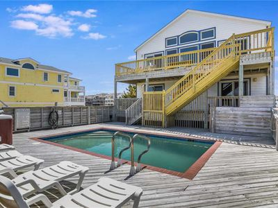 Photo for Stella Maris NC: Oceanfront with private pool, hot tub, rec room, private walkway to the beach!