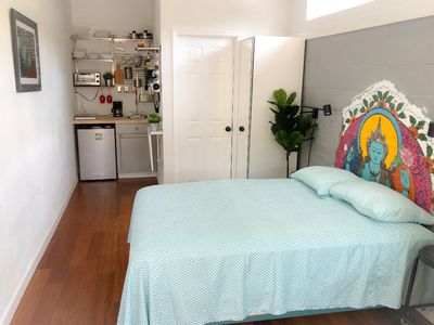 Photo for Adorable Modern Studio East - 3 miles from the beach