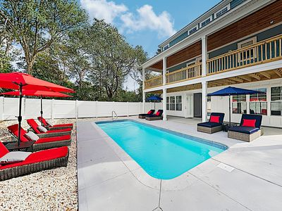 Photo for Brand-New Coastal Beauty w/ Private Pool & Luxe Theater -- Walk to Beach!