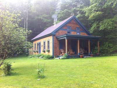Photo for Romantic Stowe, Vermont Cabin with Hot Tub