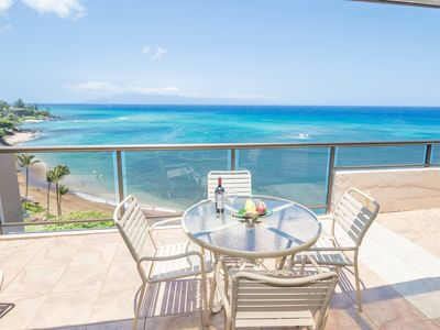 Photo for Gorgeous Oceanfront Penthouse,AC, 3B/3ba,largest condo on Maui/2700 sq ft!