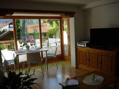 Photo for Beautiful, lovely one bedroom apartment directly below the Karwendel.