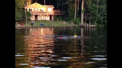 Photo for Beautiful Lake Front home with amazing sunsets....