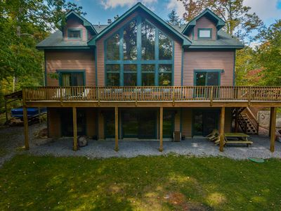 Photo for Spacious home with private dock close to Swallow Falls State Park