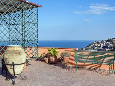 Photo for Luxurious Penthouse in Taormina Center. Breathtaking Panoramic Views.