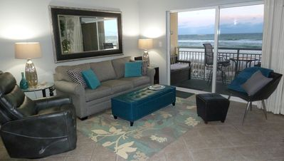 Photo for LUXURIOUS, NEWLY REMODELED, GULF-FRONT CONDO. Beach Service.