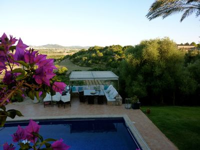 Photo for Finca with panoramic views, heated pool, luxury Jacuzzi, sauna, barbecue, billiards