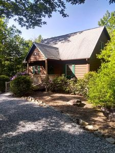 Photo for Log Cabin With Game Room, Mountain Views, 1/2 Mile From Hiking Trails