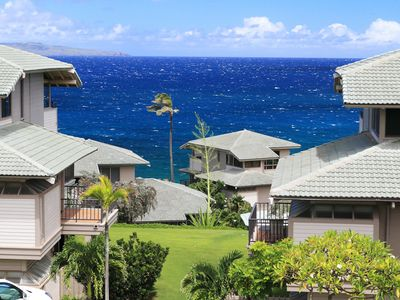 Photo for Kapalua Bay Single Story Top Floor Ocean Views!