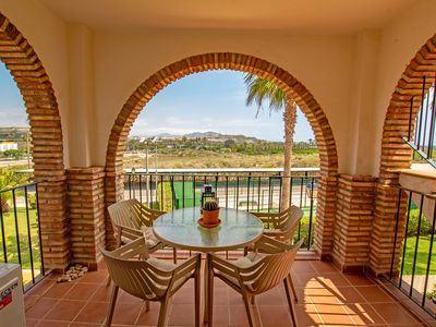 Photo for Apartment with Wifi, Spanish and English TV, views of the countryside and 1.5km from the beach