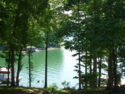 Photo for Wooded Lakeside Retreat in a Quiet Cove.