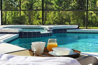 Breakfast by the pool...the perfect way to start the day.