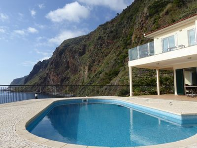 Photo for 3 Bedroom villa with pool - stunning views, exceptional beautiful seaside villag