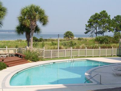 Photo for Lovely 3 Bedroom in Sea Pines Fantastic Views of the Pool & Calibogue Sound!