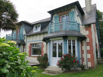 Photo for Beauctiful villa in the center of Perros-Guirec with garden and sea view