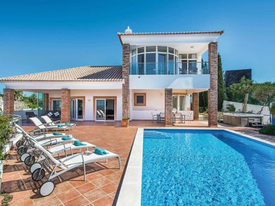Photo for 5 bedroom villa w/ pool, sea views, Jacuzzi, Wi-Fi + separate annex