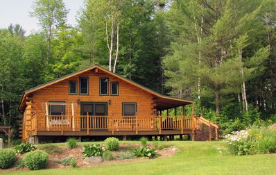 Photo for Escape to the North Country - Elegant Log Home