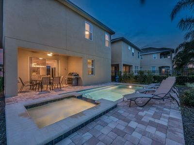 Photo for Outdoor Grill/Free shuttle to parks/Private pool and hot tub/4 miles disney/wifi