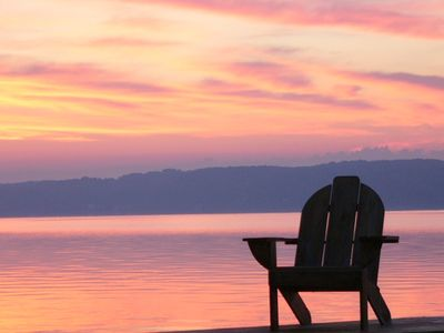 Photo for Sunrise Serenity on Saratoga Lake- Available for Race Track Rental