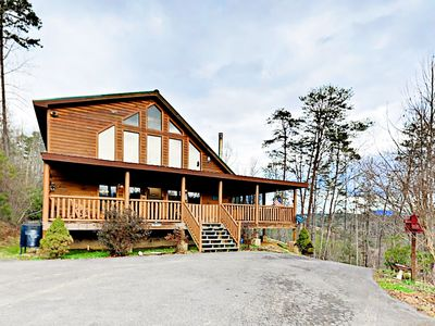 Photo for Woodland Wonder w/ Private Hot Tub & Pool Table - 10 Miles to Gatlinburg