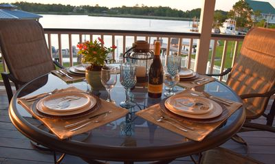 Photo for Casual Waterfront Living With Private Dock! Location minutes to Beach.