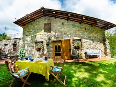 Photo for Stunning private villa with WIFI, private pool, TV, panoramic view and parking, close to Lucca