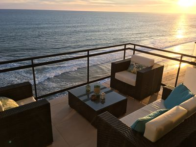 Imagine sitting outdoors with the most amazing views and enjoying the sunset