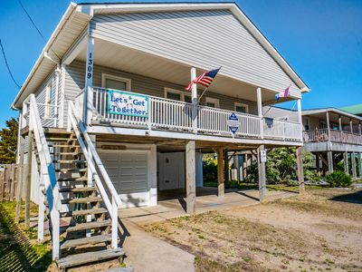 Photo for Let's Get Together: pet friendly, home across from the ocean with private pool