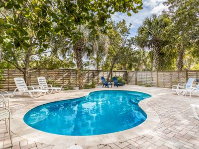 Photo for AMG 403: Beautiful Cottage w/Private Heated Pool on Pine Ave Close to Everything