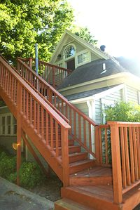 Private parking & stairs that lead right to the front door!